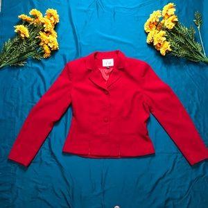 Le Suit Woman Red Blazer Jacket